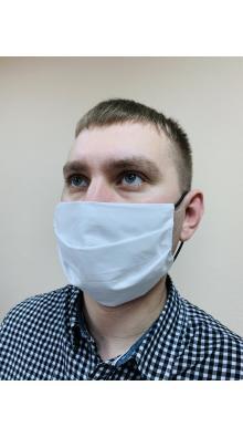 Маска защитная / Тип 1 бязь цвет (белый) на резинках