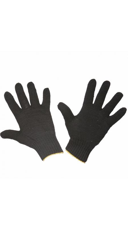Перчатки трикотажные 5-ти нитка черные, ПЕРЧАТКИ